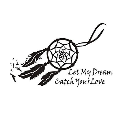 IMIKEYA Let My Dream Dream Catch Your Love Pegatinas de Pared Tatuajes de Pared Atrapasueños Sticker
