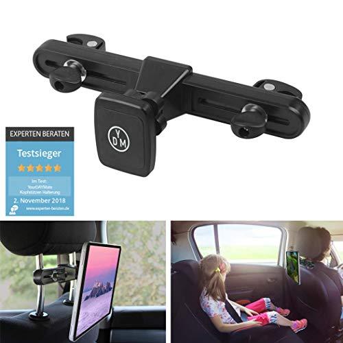 Magnet Tablet Halterung, iPad Halterung Auto, iPad mini Halterung Auto, Tablet Halterung Auto Kopfstütze, Kfz Tablet Halterung, Halterung Kopfstütze iPad, Kopfstützenhalterung, Bis 13 Zoll von YDM