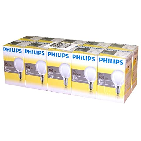 10 x Philips Glühbirne Tropfen 40W E14 MATT Glühlampe 40 Watt Glühbirnen Glühlampen