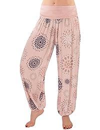a89c998030f6 FASHION YOU WANT Damen Sommerhose Pumphose Haremshose Größe 34 36 bis Größe  48 50 verfügbar mit Blumenmuster Flower Leichte…
