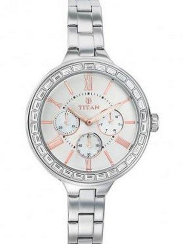 Titan Analog Silver Dial Women's Watch - 9969SM01J