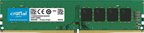 Crucial CT4G4DFS824A 4Go (DDR4, 2400 MT/s, PC4-19200, SR x8, DIMM, 288-Pin) Mémoire
