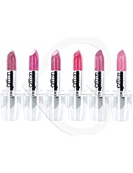 Set of 6 lipsticks Pink Shades
