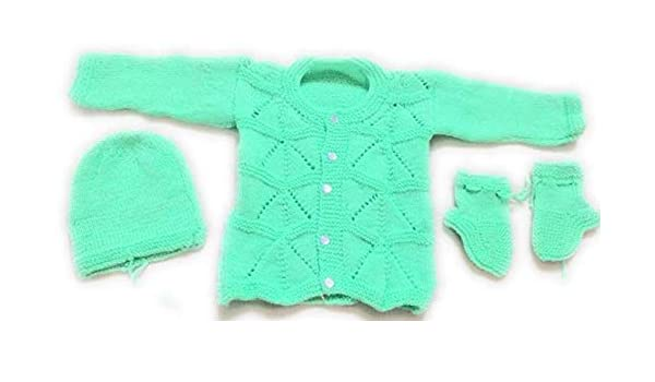 Hand Knitted Baby Cardigans For A Newborn Or Early Baby.