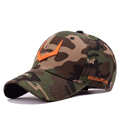 YSYNCAP Cap Baumwolle Baseballmütze Men Caps V 3D Stickerei Hysteresenhüte Für Hip Hop Baseball Hüte Männer Frauen Knochen Caps Hut, Camouflage Orange - Orange Camouflage Cap