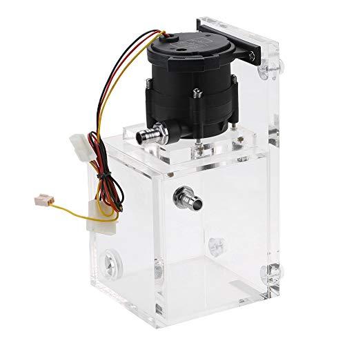 Bewinner PUB-ST1000 Serbatoio Pompa PC Integrato 890 ML, Pompa Acqua Raffreddamento 12V DC 1200L / H, Pompa Acqua Raffreddamento Liquido + Serbatoio Pompa PC Acrilico