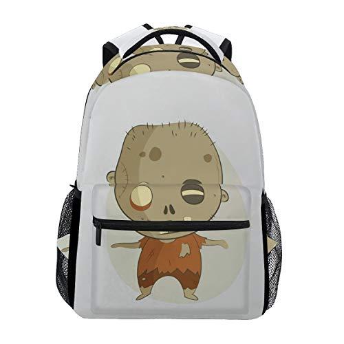 (FAJRO Spooky Halloween Zombie Reiserucksack Handtasche Schulrucksack)