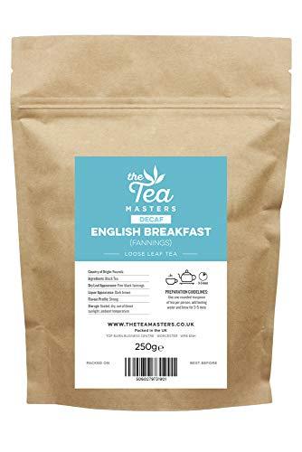 The Tea Masters Hojas sueltas Té Descafeinado Desayuno