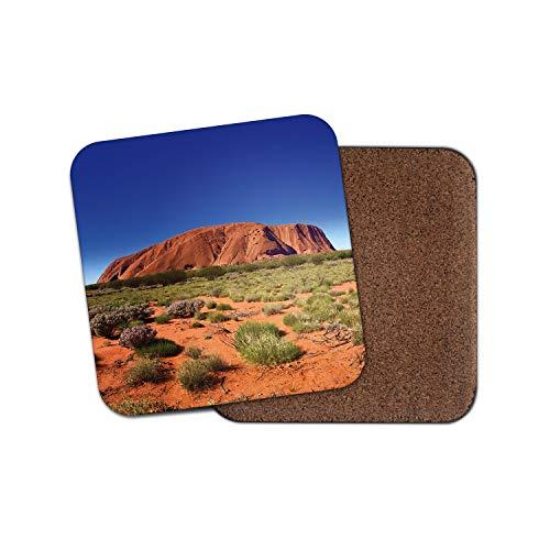 Ayers Rock (Ayers Rock Untersetzer - Sandstone Australia Uluru Felslandschaft Reise Geschenk #16944)