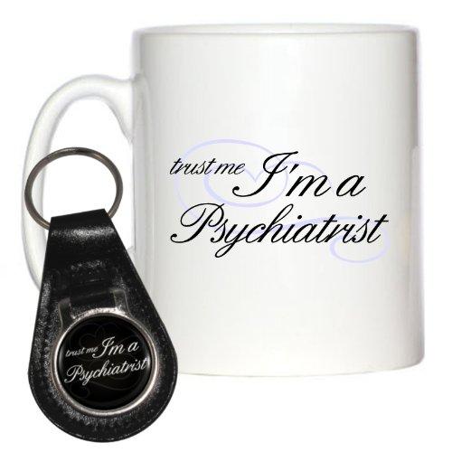 Trust Me I'm A Psychiatrist 10oz Mug & Leather Keyring by 1StopShops