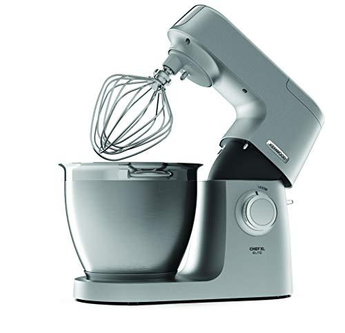 Kenwood KVL6320S Robot de cocina, accesorios de acero inoxidable, indicador de velocidades, 1400 W, 6.7 litros, Aluminio, Plata