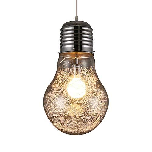 KJLARS Lampadario/Lampada da sospensione in retrò vintage industriale Stile Illuminazione in vetro blub (23cm)
