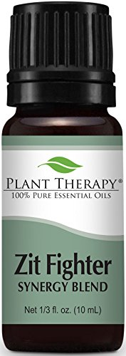 Zit Fighter Synergy Essential Oil Blend. 10 ml. 100% Pure, Undiluted, Therapeutic Grade. (Blend of: Geranium Bourbon, Pink Grapefruit, Cedarwood deodara, Peppermint, Rosemary, Roman Chamomile) by Plant Therapy Essential Oils Depression Glass Set