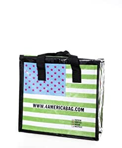 4rplanetbag's 4america Green FLAG **5-PACK** Large Reusable INSULATED Grocery Totes, Garden, Haus, Garten, Rasen, Wartung