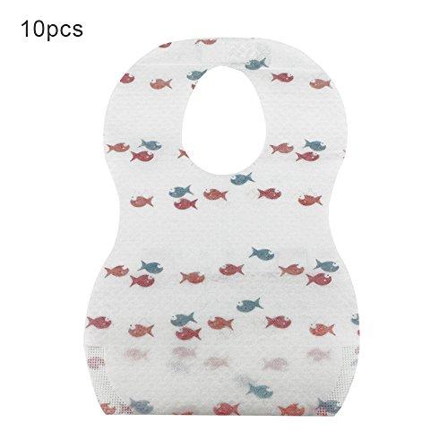 10 unidades desechables desechables baberos para niños niñas bebé niño pequeño ideal para viajes en el hogar