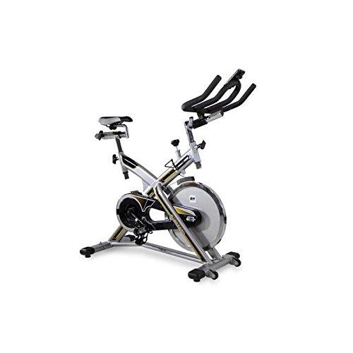 BH Fitness MKT JET BIKE PRO H9162RF, Indoorbike, Silber/Grau/Gelb, One Size