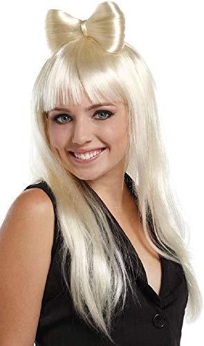 Damen sexy lang blond oder Licht pink Haarschleife Lady Gaga Nicky Minaj PROMI KOSTÜM PERÜCKE - Blond, One size, Einheitsgröße