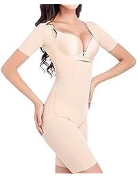 TININNA Bustier Corsé Corset Pantalones Body Mujer Cintura Abdomen Muslo Postparto Recuperación Lencería Moldeadora Adelgazante Efecto para Dar Figura Shapewear(desnudo XXL)