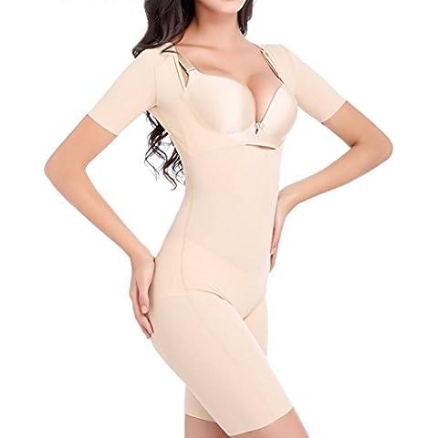 TININNA Bustier Corsé Corset Pantalones Body Mujer Cintura Abdomen Muslo Postparto Recuperación Lencería Moldeadora Adelgazante Efecto para Dar Figura Shapewear(desnudo