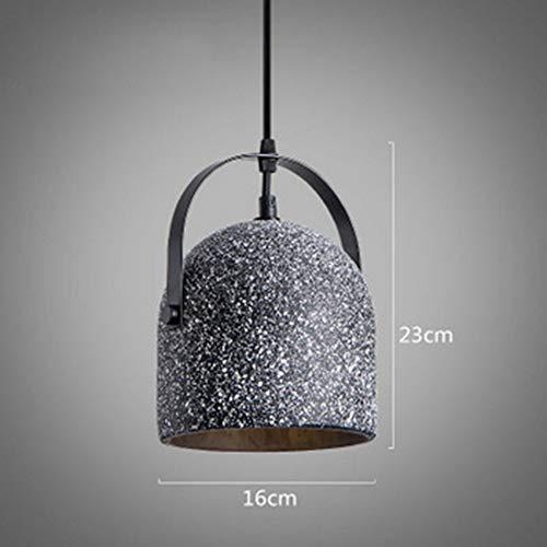 [nordeuropa] Moderne Zement Kronleuchter,e27 Regentropfen Decke Pendelleuchte Kreativ Bekleidungsgeschäft Café Schlafzimmer Vintage Kronleuchter-c - Granit-pendelleuchte