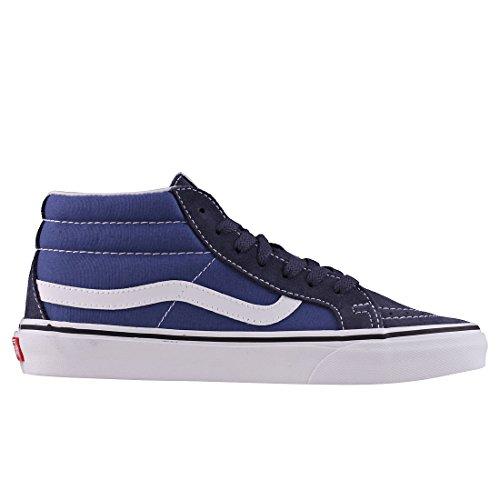 metà Ristampa Notte Navy Marina bleu Parigino Blu Sk8 Furgoni U Chaussures Vera tITaYW
