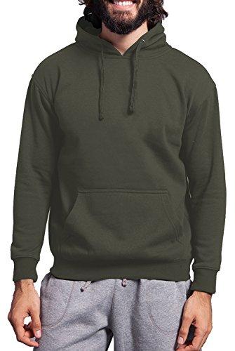 Felpa swetshirt unisex - 40% cotone 60% poliestere - 280 grammi - Fermento Italia Verde militare