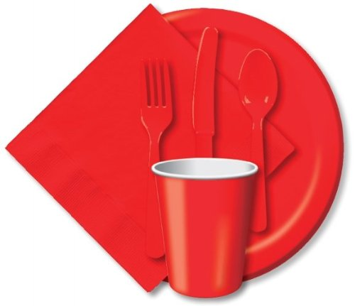 Creative Expressions Classic Red Paper Lunch Plates|24 pcs