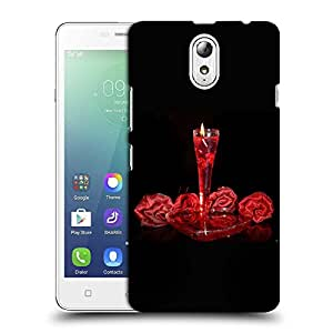Snoogg Rose Candle Designer Protective Back Case Cover For LENOVO VIBE P1