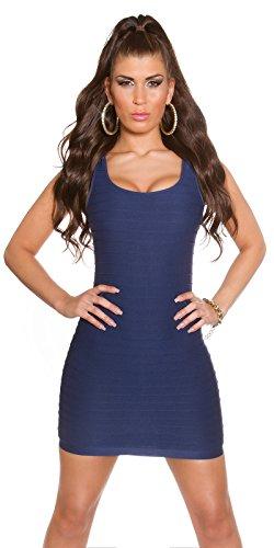 In - Stylefashion Damen Schlauch Kleid One size Marineblau