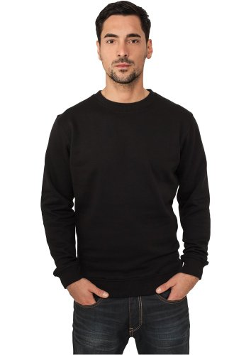 Urban Classics Herren Sweatshirt Crewneck Sweater Black