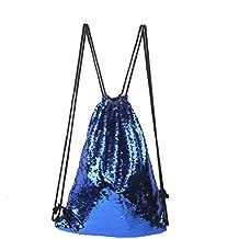 Mochila de lentejuelas, bolsa de hombro, con purpurina, reversible, con purpurina,