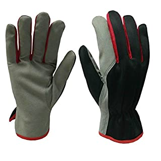Xclou Rigger Gloves XL - Abrasion and Puncture Resistant Garden Gloves for Men and Women - Durable Working Gloves in Red and Black