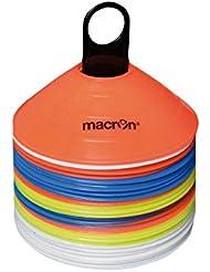 Juego de 48 Cinesini MACRON Marker h 5 cm Delimitatori Conetti Conos Volley Fútbol