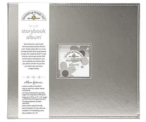 Album 30,5x30,5cm, D-ring, Silber, Doodlebug Design Inc, 30x30cm, Alba Blöcke, Scrapbooking Papier - Doodlebug Doodlebug Design Album