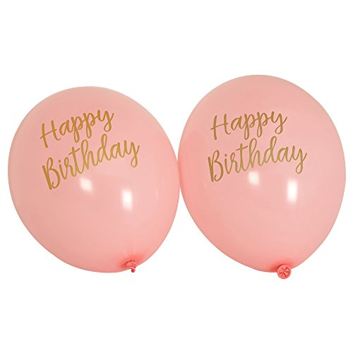 oniert – Luftballons Happy Birthday Pink, 8 Stück (Luftballons Happy Birthday)