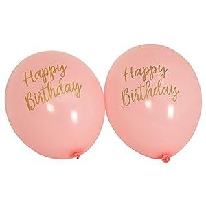 Neviti CSC Imports Juego de Obras-Globos de cumpleaños Rosa, Pack de 8