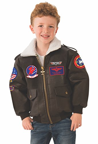 Kids Gun Kostüm Top - Top Gun Kid's Bomber Jacket Fancy Dress Costume Medium