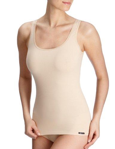 Skiny Damen Advantage Cotton Tank Top 2er Pack , Beige (Skin), 36(S) EU