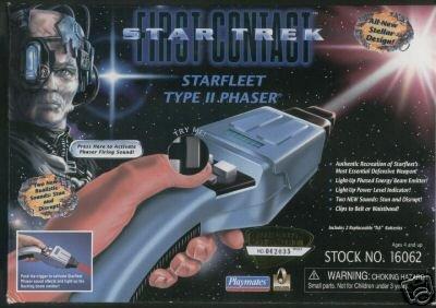Phaser - Star Trek First Contact - TYP II - mit Licht und Sound Rarität aus dem filmwelt-center