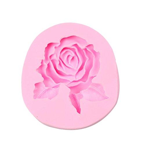 Drawihi stampo in silicone per cubetti di ghiaccio,biscotti,tortini,cioccolato,rosa,8.3 * 7.9 * 2.3cm,1pcs