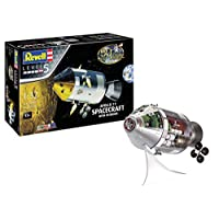 Revell RV03703 03703 Gift Set Apollo 11 Spacecraft with Interior (1:32 Scale) Plastic Model kit, Various