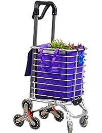 Plegable Carrito De La Compra ligero subir escaleras carrito carro de utilidad de tránsito de comestibles