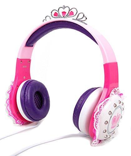 DuraGadget Prinzessinen-Kopfhörer für Kinder in Pink und Lila - Ideal für Alcatel A3 XL | ZTE Blade V8 Pro | HTC One X10 | Asus Zenfone AR + 3 Zoom | Polaroid Power P600SL | Wileyfox Swift 2X Smartphone
