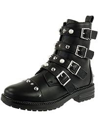 SHOWHOW Damen Martin Boots Kurzschaft Stiefel Mit Absatz Rot 45 EU