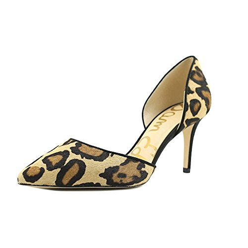 Sam Edelman Damen Telsa Pumps New Nude Leopard Brahma Hair