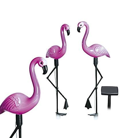 EASYmaxx 09383 Pink Flamingo Solar Lights | Requires No External Power Supply | Garden Decor | Garden Ornaments | For Garden