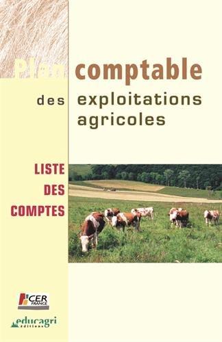 Plan comptable des exploitations agricoles : Liste des comptes