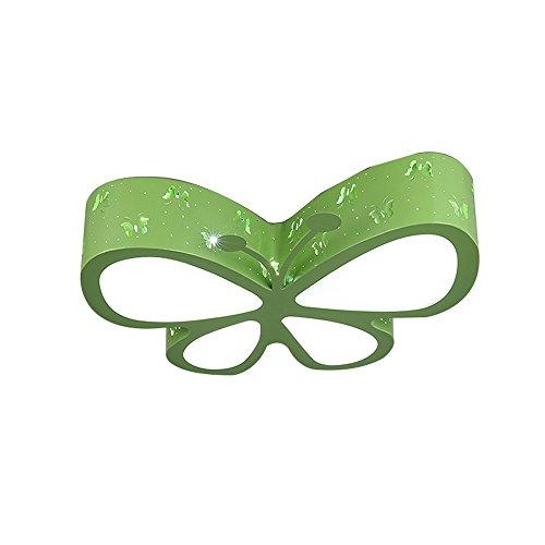 Ambientale led plafoniera, nordic creativo boy girl farfalla in ferro plafoniera moderno simple mall camera dei bambini lovely lampada a sospensione acrilico camera da letto salotto sala da pranzo lampadario, rosa, verde, bianco ( color : green )