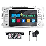 Autoradio Double DIN Dab+ (Inclus) pour Ford Focus Mondeo Galaxy S-Max 7' GPS...