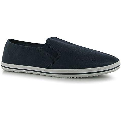Slazenger–Lienzo Slip On Zapatos casual ligera elástica cierre